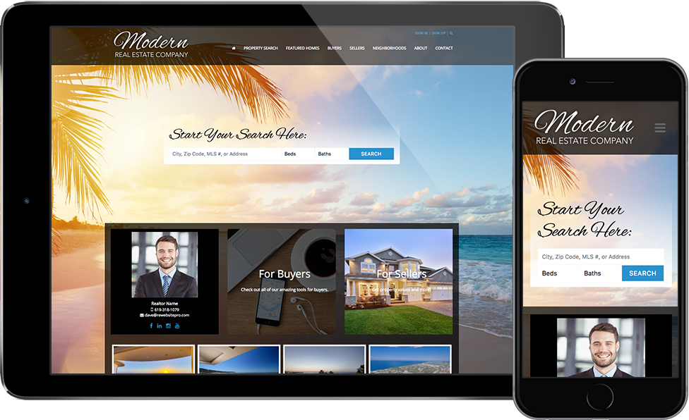 Websites for Realtors Mobile
